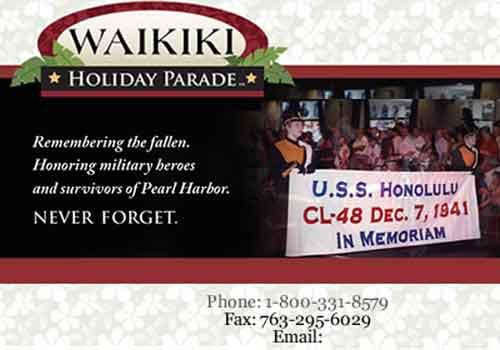 Waikiki Holiday Parade – Parades Lower Ads Col3